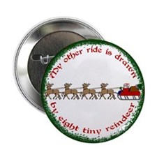 """Drawn by Eight Tiny Reindeer 2.25"""" Button (10 pack"""