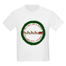 Drawn by Eight Tiny Reindeer T-Shirt