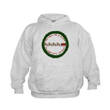 Drawn by Eight Tiny Reindeer Hoody