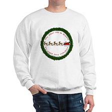Drawn by Eight Tiny Reindeer Sweatshirt