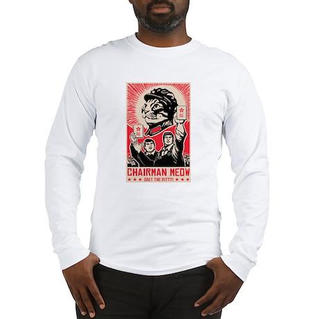 Follow Chairman Meow! Long Sleeve T-Shirt