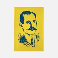 BLUE YELLOW PAINTED MUSTACHE Rectangle Magnet (10