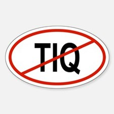 TIQ Oval Decal