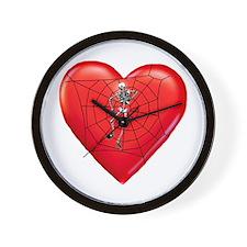 Spider Heart Wall Clock