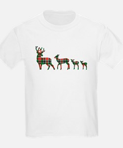 Christmas plaid deer family T-Shirt