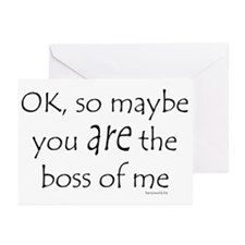Boss of Me 2 Greeting Cards (Pk of 20)