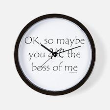 Boss of Me 2 Wall Clock