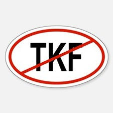 TKF Oval Decal