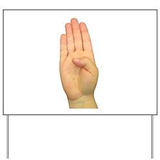 ASL Letter B Yard Sign