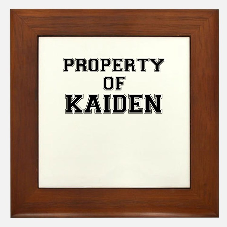 Property of KAIDEN Framed Tile
