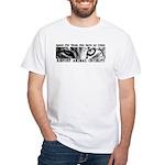 Report Animal Cruelty Cat White T-Shirt