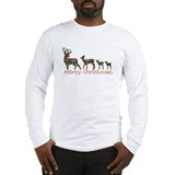 Deer christmas Long Sleeve T Shirts