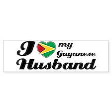 I love my Guyanese husband Bumper Bumper Bumper Sticker