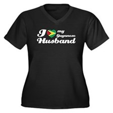 I love my Guyanese husband Women's Plus Size V-Nec