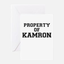 Property of KAMRON Greeting Cards