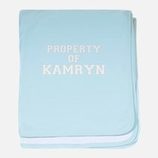Property of KAMRYN baby blanket