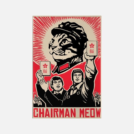 Follow Chairman Meow- Propaganda Magnet