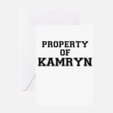 Property of KAMRYN Greeting Cards