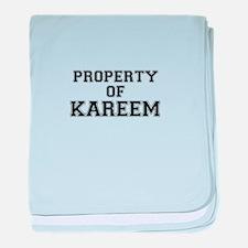 Property of KAREEM baby blanket