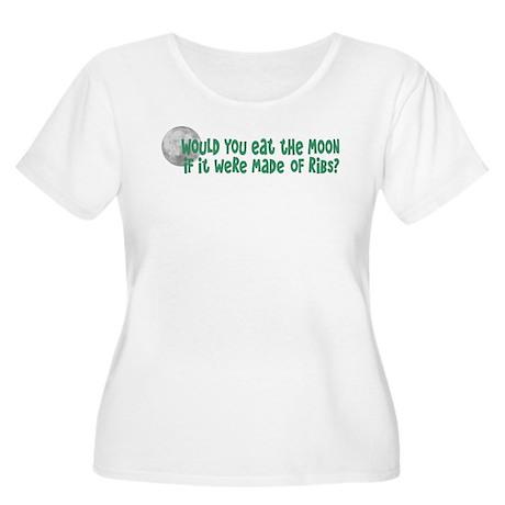 Moon Ribs Women's Plus Size Scoop Neck T-Shirt