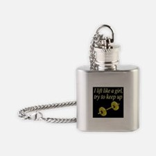 MUSCLE GIRL Flask Necklace