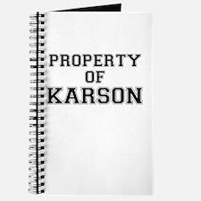 Property of KARSON Journal
