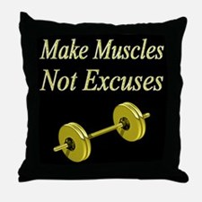 MUSCLE GIRL Throw Pillow