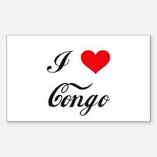 I Love Congo Rectangle Decal
