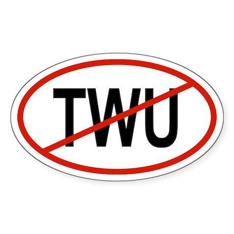 TWU Oval Sticker
