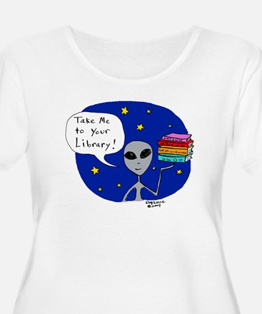 Take Me To Your Library Plus Size T-Shirt