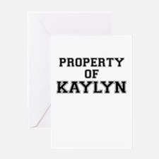 Property of KAYLYN Greeting Cards