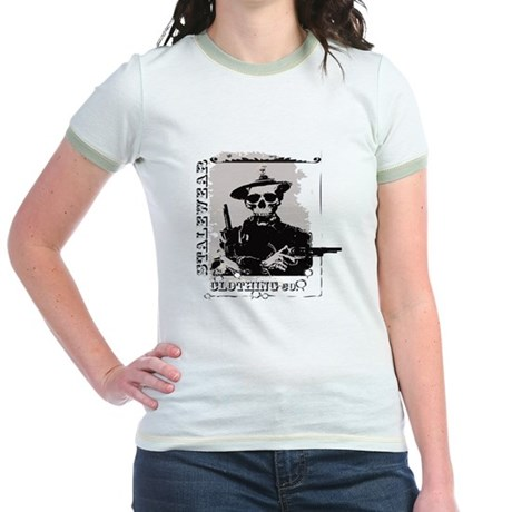 Old West Skull and revolvers Jr. Ringer T-Shirt