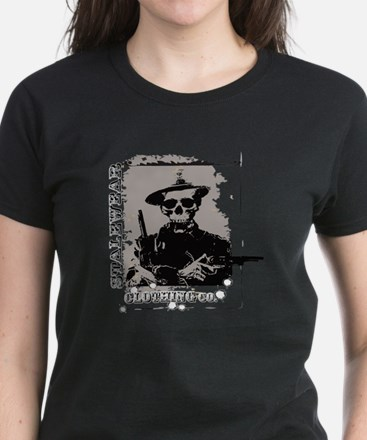 Old West Skull and revolvers Women's Dark T-Shirt