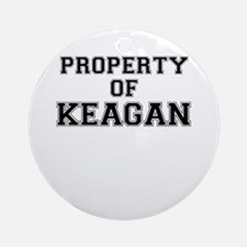 Property of KEAGAN Round Ornament