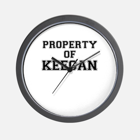 Property of KEEGAN Wall Clock