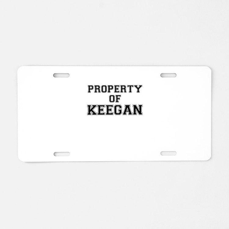 Property of KEEGAN Aluminum License Plate
