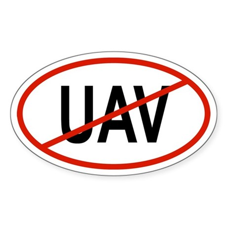 UAV Oval Sticker