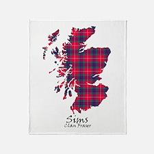 Map-Sims.Fraser Throw Blanket