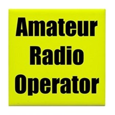 Amateur Radio Operator Tile Coaster