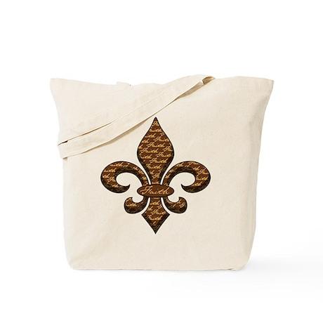 Faith Fleur de lis Tote Bag