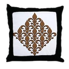 Faith Fleur de lis Throw Pillow