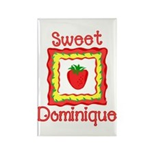 Sweet Dominique Rectangle Magnet