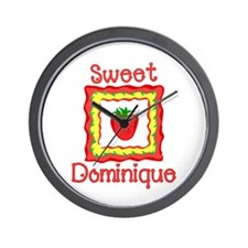 Sweet Dominique Wall Clock