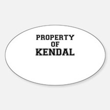 Property of KENDAL Decal