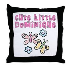 Cute Little Dominique Throw Pillow