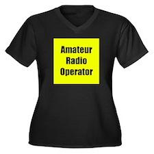 Amateur Radio Operator Women's Plus Size V-Neck Da