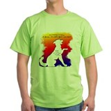 Outside of a dog a book quote Green T-Shirt