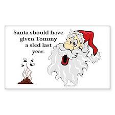 Surprise Santa Poop Rectangle Decal