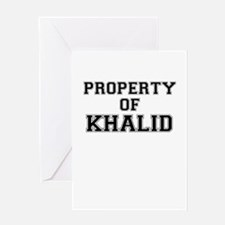 Property of KHALID Greeting Cards
