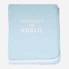 Property of KHALIL baby blanket